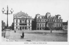 Théatre -  Théâtre et Hôtel de Ville, Autun, Saône-et-Loire, France