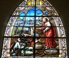 Eglise Saint-Véran - Esperanto: vitralo de la preĝejo de Chaudenay