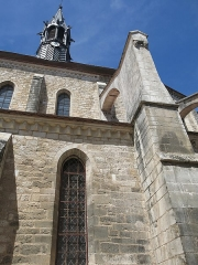 Eglise Saint-Martin - English: Flying buttress of the collégiale Saint-Martin in Chablis, (Yonne, France).
