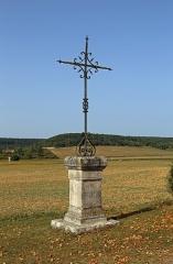 Eglise Saint-Jean-Baptiste - Nederlands: Chassignelles (departement Yonne, Frankrijk): smeedijzeren kruis uit 1904 naast de Sint-Jan-de-Doperkerk