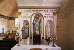 Eglise Saint-Jean-Baptiste - Nederlands: Chassignelles (departement Yonne, Frankrijk): interieur van de Sint-Jan-de-Doperkerk - detail: Maria-altaar