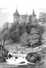 Château de Chastellux - Deutsch: Zeichnung des Schlosses Chastellux