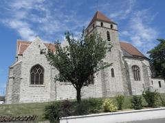Eglise Saint-Loup - Vue méridionale de l'église Saint-Loup de Courlon-sur-Yonne (89).