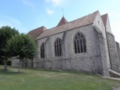 Eglise Saint-Loup - Façade septentrionale de l'église Saint-Loup à Courlon-sur-Yonne (89).