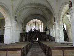 Eglise Saint-Loup - Intérieur de l'église Saint-Loup à Courlon-sur-Yonne (89).