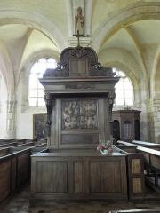Eglise Saint-Loup - Banc d'œuvre de l'église Saint-Luup à Courlon-sur-Yonne (89).
