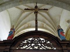 Eglise Saint-Loup - Poutre de gloire de l'église Saint-Loup à Courlon-sur-Yonne (89).
