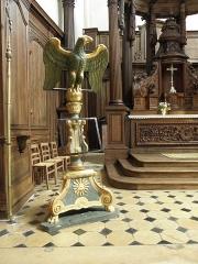 Eglise Saint-Loup - Lutrin de l'église Saint-Loup à Courlon-sur-Yonne (89).