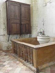 Eglise Saint-Loup - Fonts baptismaux de l'église Saint-Loup à Courlon-sur-Yonne (89).