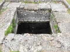 Ruines gallo-romaines des Fontaines Salées (également sur commune de Saint-Père) - Deutsch:   Quellfassung einer Salzquelle im Site archéologique des Fontaines Salées de Saint-Père und Foissy-lès-Vézelay.