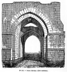 Enceinte de la ville - Français:   Montréal (89): Porte d\'en bas (XIIIe siècle)