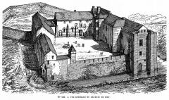 Maison-forte - Français:   Dessin du château de Pisy (Yonne)
