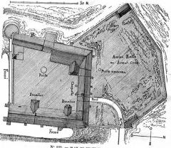 Maison-forte -  plan du château de Pisy