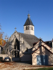 Eglise - English: The Saint-Pantaleon Roman Catholic church of Ravières, Yonne, France.