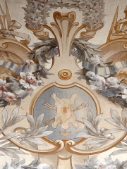 Hôtel de ville -  Décor de la salle des fêtes de l'hôtel de ville de Sens symbolisant les activités des tanneurs.