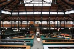 Marché couvert -  Halles de Sens, Sens, Côte d'Or, Bourgogne, France