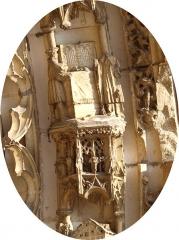 Eglise Saint-Julien - Français:   Thury (Yonne, France); le portail de l\'église , détails