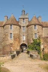 Château de Ratilly - Deutsch: Chateau-de-Ratilly, Portaltürme von S