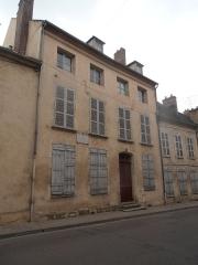 Maison Joseph-Joubert - Français:   Maison du philosophe Joubert ou a travaillé Chateaubriand à Villeneuve-sur-Yonne (France)