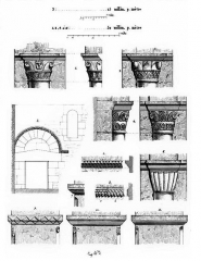 Ferme Saint-Rémy-l'Abbaye ou prieuré de Ronquerolles - Français:   Croquis d\'architecture relevés sur place par Eugène Woillez.