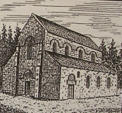 Ferme Saint-Rémy-l'Abbaye ou prieuré de Ronquerolles - Français:   État ancien de la chapelle.