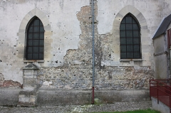 Eglise - Français:   Bresles - Eglise Saint-Gervais-Saint-Protais, détail du mur Nord