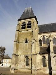 Eglise Saint-Martin - Français:   Le clocher, côté sud.