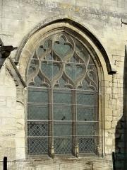 Eglise Saint-Martin - Français:   Fenêtre flamboyante du croisillon sud.
