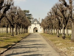 Abbaye de Royallieu - Français:   Allée menant à l\'ancienne abbbaye depuis l\'avenue des martyrs de la Libération.