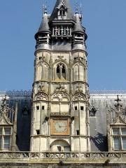 Hôtel de ville - Français:   Le beffroi, détail.