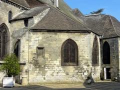 Eglise Saint-Médard -  Seconde (et dernière) travée de l'ancien collatéral sud du chœur, remanié pendant la seconde moitié du XVe siècle, avec un mur biais.