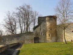Ancien château Saint-Aubin - Français:   Vestiges des fortifications à l\'ouest de la terrasse du château.