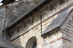 Eglise - Français:   Le Fay-Saint-Quentin - Eglise Saint-Laurent, détail du mur Sud de l\'abside quadrangulaire