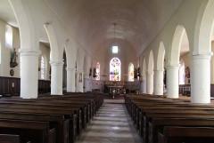 Eglise - English: Grandvilliers (Oise), church Saint-Gilles, inner view