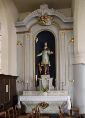Eglise - English: Grandvilliers (Oise), church Saint-Gilles, side altar
