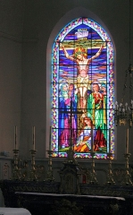 Eglise - English: Grandvilliers (Oise), church Saint-Gilles, stained glass window