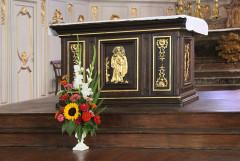 Eglise - English: Grandvilliers (Oise), church Saint-Gilles, table