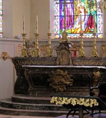 Eglise - English: Grandvilliers (Oise), church Saint-Gilles, the main altar