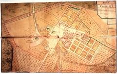 Ancienne abbaye cistercienne de Froidmont - Français:   Plan de l\'abbaye de Froidmont à Hermes (Oise). Fait par les soins de Monseigneur Loüis Jaque daudibert de Lussan, conseiller du Roy en touts ces conseils, Archevêque de Bordeaux et Abbé Commandataire de la ditte Abbaye.