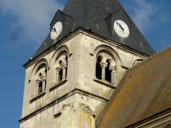 Eglise Notre-Dame de la Nativité - Français:   Clocher, étage de beffroi.