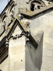 Eglise Notre-Dame de la Nativité - Français:   Contrefort décoré de l\'abside.