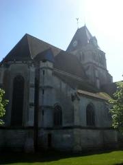 Eglise Notre-Dame de la Nativité - Français:   le chevet de l\'église
