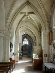 Eglise Notre-Dame de la Nativité - Français:   Bas-côté, croisillon et collatéral sud (au bout).