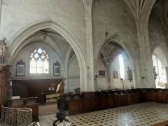 Eglise Notre-Dame de la Nativité - Français:   Chœur, grandes arcades au sud.