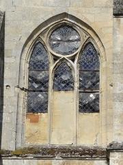 Eglise -  Chevet, baie du collatéral sud.