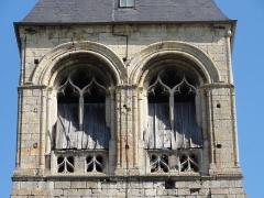 Eglise -  Clocher, étage de beffroi.