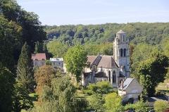 Eglise - Pierrefonds (Oise, France), l'église Saint-Sulpice (XIII-XVIe siècle).