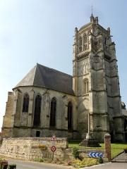 Eglise - Français:   Vue depuis le nord-est.