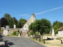 Eglise et le cimetière y attenant -  Église Saint-Wandrille de Rivecourt (voir titre).