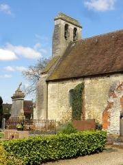 Eglise et cimetière qui l'entoure - Français:   Clocher.